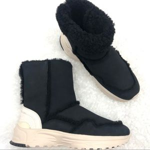 Coach Portia Suede Shearling Cold Weather Boots